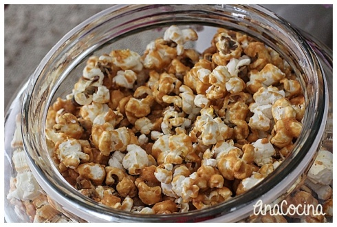 Popcorn de caramelo picante