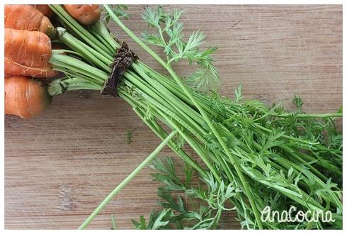 Pesto de hojas de zanahoria